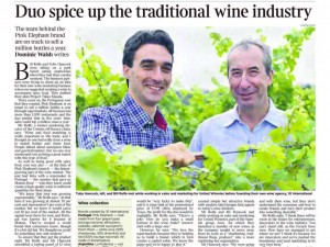 Duo spice up the traditional wine industry